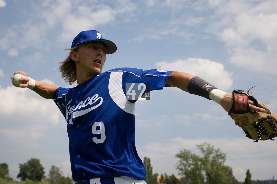 BASEBALL - GREEN ROLLER PARK - PRAGUE (CZECH REPUBLIC) - 24/06/2008 - PHOTO: CHRISTOPHE ELISE.LUC PIQUET (TEAM FRANCE)