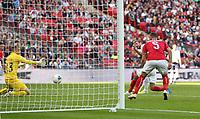 England's Harry Kane scores his side's first goal  <br /> <br /> Photographer Rob Newell/CameraSport<br /> <br /> UEFA European Championship Qualifying Group A - England v Bulgaria - Saturday 7th September 2019 - Wembley Stadium - London<br /> <br /> World Copyright © 2019 CameraSport. All rights reserved. 43 Linden Ave. Countesthorpe. Leicester. England. LE8 5PG - Tel: +44 (0) 116 277 4147 - admin@camerasport.com - www.camerasport.com