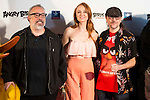 Alex de la Iglesia, Cristina Castaño and Santiago Segura during the photocall of the kid premiere of the film Angry Birds in Madrid, May 07, 2016. (ALTERPHOTOS/BorjaB.Hojas)