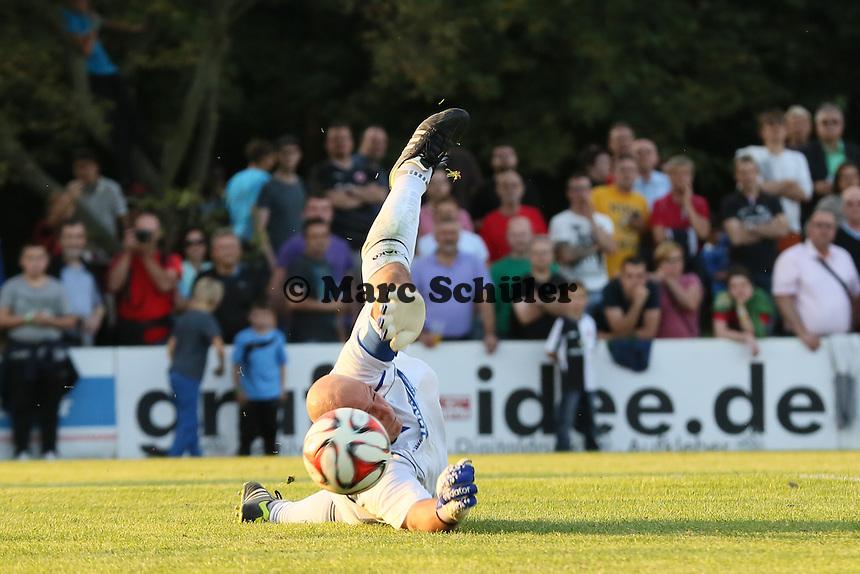Parade Stefan Braun (Unterliederbach) - VfB Unterliederbach vs. Eintracht Frankfurt
