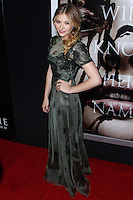 """HOLLYWOOD, CA - OCTOBER 07: Actress Chloe Grace Moretz arrives at the Premiere Of Metro-Goldwyn-Mayer Pictures & Screen Gems' """"Carrie"""" held at ArcLight Cinemas on October 7, 2013 in Hollywood, California. (Photo by Xavier Collin/Celebrity Monitor)"""