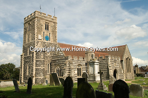 Cliffe St Helens Church, Hoo Peninsular, Isle of Grain, Kent, England.