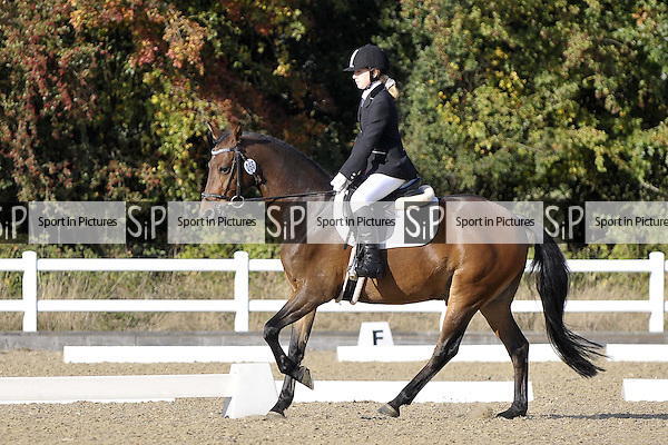 Class 6. Novice 34. Unaffilated Dressage Championships. Brook Farm Training Centre. Essex. 22/10/2016. MANDATORY Credit Garry Bowden/Sportinpictures - NO UNAUTHORISED USE - 07837 394578