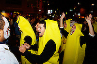 The bananas cannot be stopped on their way up State Street during Freakfest 2015 on State Street in Madison, Wisconsin