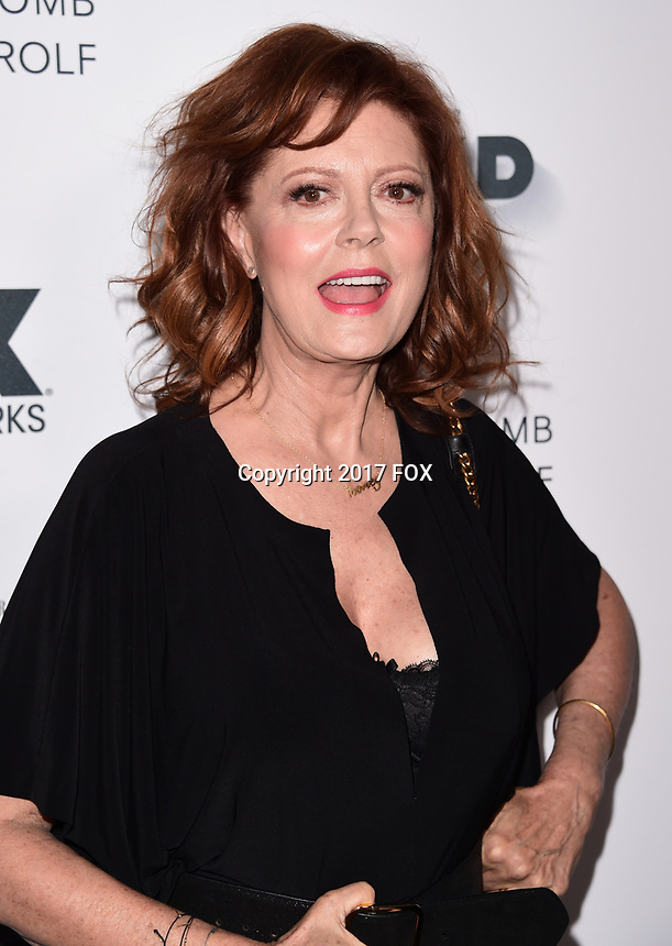 LOS ANGELES, CA - SEPTEMBER 16: Susan Sarandon arrives at the FX Networks and Vanity Fair 2017 Primetime Emmy Nominee Celebration at Craft LA on September 16, 2017 in Los Angeles, California. (Photo by Scott Kirkland/FX/PictureGroup)