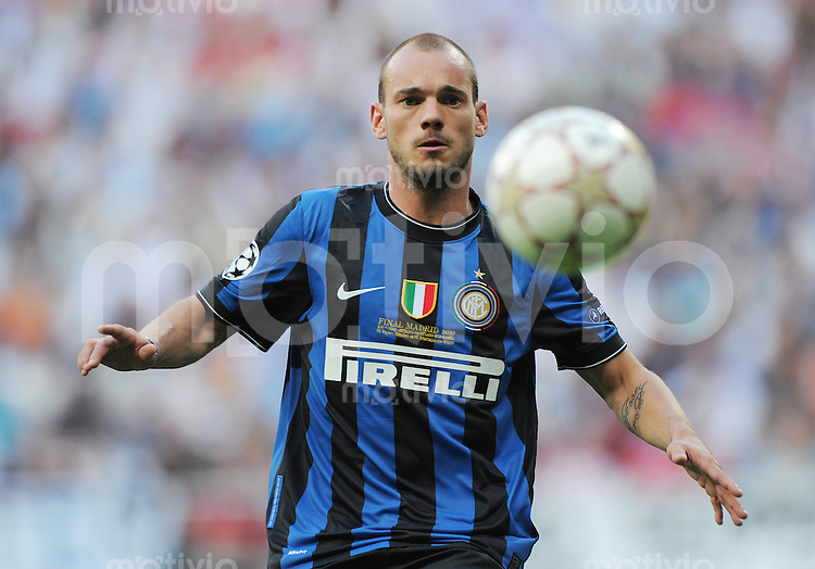 FUSSBALL      CHAMPIONS LEAGUE FINALE     SAISON  2009/2010 FC Bayern Muenchen - Inter Mailand      22.05.2010 Wesley Sneijder (Inter)