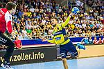Bogdan RADIVOJEVIC (#14 Rhein-Neckar Loewen) \ beim Spiel in der Handball Bundesliga, SG BBM Bietigheim - Rhein Neckar Loewen.<br /> <br /> Foto &copy; PIX-Sportfotos *** Foto ist honorarpflichtig! *** Auf Anfrage in hoeherer Qualitaet/Aufloesung. Belegexemplar erbeten. Veroeffentlichung ausschliesslich fuer journalistisch-publizistische Zwecke. For editorial use only.