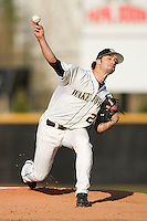 Starting pitcher Michael Dimock #23 of the Wake Forest Demon Deacons in action against the North Carolina State Wolfpack at Wake Forest Baseball Park March 19, 2010, in Winston-Salem, North Carolina.  Photo by Brian Westerholt / Four Seam Images
