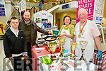 l-r  JP O'Brien, Jim Heffernan,  with Kathleen and John Paul O'Connor from Sasta Sausages. Sasta Sausages are World Champions for their white pudding where they received the gold medal, Silver medal for the black pudding and won best sausages in Ireland and Great Britain. at the Taste of Tralee Food Fair in Manor West Retail Park on Saturday