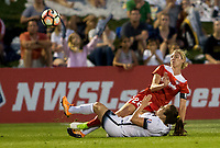 Boyds, MD. - Saturday, June 24 2017:  Meleana Shim, Alyssa Kleiner during a regular season National Women's Soccer League (NWSL) match between the Washington Spirit and the Portland Thorns FC at Maureen Hendricks Field, Maryland SoccerPlex.<br />  The Washington Spirit defeated the Portland Thorns FC 1-0.