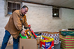 WOLCOTT, CT. 23 December 2018-122318 - Richard Pignataro a Stocking Stuffer volunteer, who was recruited from Florida loads some of the hundreds of toys at the Grange in Wolcott on Sunday. The gifts will be distributed on Christmas Day with help from the Waterbury Fire and Police departments to families less fortunate for the holidays. Bill Shettle Republican-American