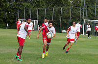 SAO PAULO, SP, 06.05.2014 - TREINO SAO PAULO FC - Alexandre Pato jogador do Sao Paulo durante treino da equipe no Centro de Treinamento da Barra Funda regiao oeste de Sao Paulo, nesta terça-feira, 06. (Foto: Carlos Pessuto / Brazil Photo Press).