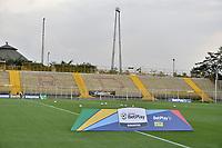 BOGOTA - COLOMBIA, 12-03-2020: Tigres F.C. y Cortuluá en partido por la fecha 7 del Torneo BetPlay DIMAYOR I 2020 jugado en el estadio Metropolitano de Techo de la ciudad de Bogotá. / Tigres F.C. and Cortulua in match for the date 7 as part of BetPlay DIMAYOR Tournament I 2020 played at Metropolitano de Techo stadium in Bogota city. Photo: VizzorImage / Gabriel Aponte / Staff