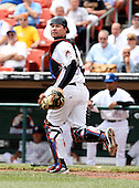 Buffalo Bisons Catcher J.R. House (32) during a game vs. the Syracuse Chiefs at Coca-Cola Field in Buffalo, New York;  June 3, 2010.  Syracuse defeated Buffalo 7-1.  Photo By Mike Janes/Four Seam Images