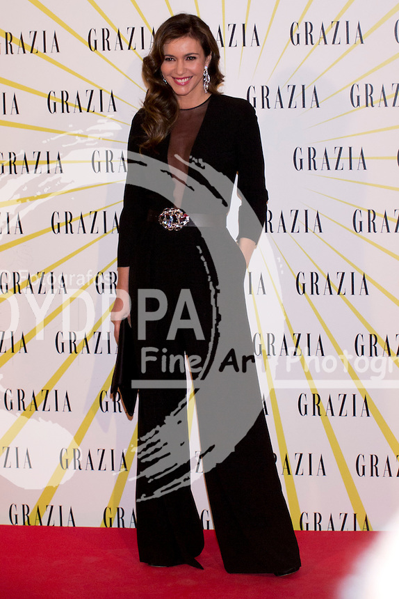 12.02.2013. Circo Price. Madrid. Spain. Celebrities attend the Party for the new magazine 'Grazia'. In the image: Arancha del Sol. (C) Ivan L. Naughty / DyD Fotografos//