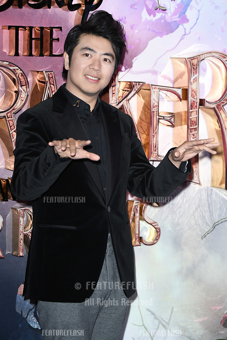 "LONDON, UK. November 01, 2018: Lang Lang at the European premiere of ""The Nutcracker and the Four Realms"" at the Vue Westfield, White City, London.<br /> Picture: Steve Vas/Featureflash"