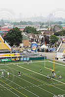 July 12, 2008; Hamilton, ON, CAN; View overlooking Ivor Wynne Stadium with steel factories from ArcelorMittal Dofasco in the distance. CFL football - Saskatchewan Roughriders defeated the Hamilton Tiger-Cats 33-28 at Ivor Wynne Stadium. Mandatory Credit: Ron Scheffler.