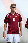 28 August 2015: Elon's Samuel McBride. The Elon University Phoenix played the DePaul University Blue Demons at Koskinen Stadium in Durham, NC in a 2015 NCAA Division I Men's Soccer match. Elon won the game 4-0.