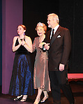 """Curtain Call - Paula Nance, Taina Elg, Ron Raines at """"Union Women at Work: Inspiration In Motion"""" on March 5, 2012 at Theatre at Saint Peter's Church - Home of The York Theatre, New York City, New York which was """"sponsored by Actors' Equity Associations Eastern EEO Committee.  The event was an Equity event in celebration of Womens History Month.  (Photo by Sue Coflin/Max Photos) (Photo by Sue Coflin/Max Photos)"""