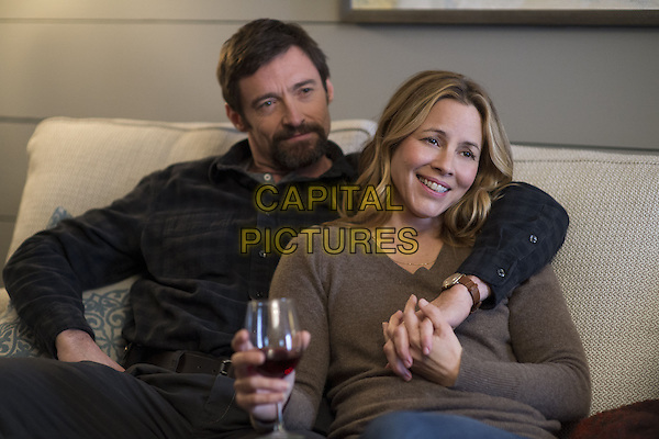 Hugh Jackman, Maria Bello<br /> in Prisoners (2013) <br /> *Filmstill - Editorial Use Only*<br /> CAP/NFS<br /> Image supplied by Capital Pictures
