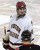 Brian Boyle - The Boston College Eagles defeated Northeastern University Huskies 5-3 on Saturday, November 19, 2005, at Kelley Rink in Conte Forum at Chestnut Hill, MA.