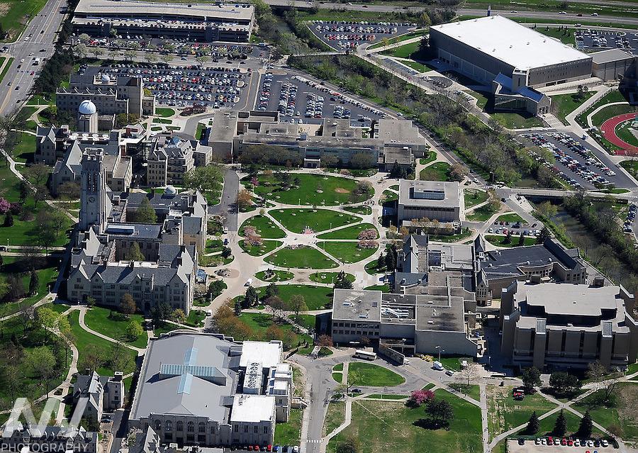 April. 4, 2012; Toledo, OH, USA; A aerial view of the campus of the University of Toledo. Mandatory Credit: Andrew Weber