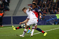 Renato Sanches of Lille OSC blocks a shot from Mason Mount of Chelsea during Lille OSC vs Chelsea, UEFA Champions League Football at Stade Pierre-Mauroy on 2nd October 2019