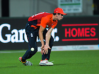 England's Pat Brown fields during the 4th Twenty20 International cricket match between NZ Black Caps and England at McLean Park in Napier, New Zealand on Friday, 8 November 2019. Photo: Dave Lintott / lintottphoto.co.nz