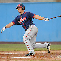July 17, 2009: Infielder Adam Davis (11) of the Kinston Indians, Carolina League affiliate of the Cleveland Indians, in a game against the Potomac Nationals at G. Richard Pfitzner Stadium in Woodbridge, Va. Photo by: Tom Priddy/MiLB.com