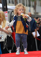 James Reynolds (2), daughter of Ryan Reynolds &amp; Blake Lively, at the Hollywood Walk of Fame Star Ceremony honoring actor Ryan Reynolds.<br /> Los Angeles, CA. <br /> December 15, 2016<br /> Picture: Paul Smith/Featureflash/SilverHub 0208 004 5359/ 07711 972644 Editors@silverhubmedia.com