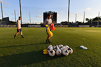 Miami, FL - Tuesday, October 15, 2019:  Staff, Nike soccer balls during a friendly match between the USMNT U-23 and El Salvador at FIU Soccer Stadium.