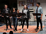 "Cast of ""Borders"" during the 2018 Presentation of New Works by the DGF Fellows on October 15, 2018 at the Playwrights Horizons Theatre in New York City."