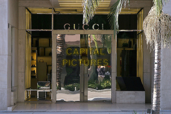 GUCCI SHOP.Famous Beverly Hills Landmarks. Beverly Hills, California..January 5th, 2005.Photo Credit: Jacqui Wong/Admedia.store, building.www.capitalpictures.com.sales@capitalpictures.com.© Capital Pictures.