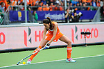The Hague, Netherlands, June 14: Naomi van As #18 of The Netherlands prepares for a penalty corner during the field hockey gold medal match (Women) between Australia and The Netherlands on June 14, 2014 during the World Cup 2014 at Kyocera Stadium in The Hague, Netherlands. Final score 2-0 (2-0)  (Photo by Dirk Markgraf / www.265-images.com) *** Local caption ***