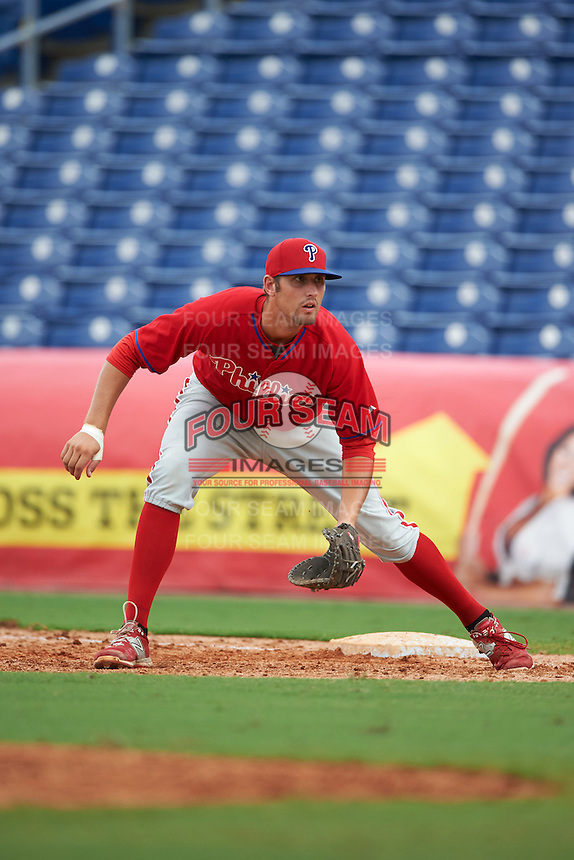 Philadelphia Phillies Brendon Hayden (43) during an instructional league game against the New York Yankees on September 29, 2015 at Brighthouse Field in Clearwater, Florida.  (Mike Janes/Four Seam Images)