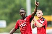 Goalscorer Enzio Boldewijn of Crawley Town (7) celebrates the win mages   during the Sky Bet League 2 match between Crawley Town and Luton Town at the Broadfield/Checkatrade.com Stadium, Crawley, England on 17 September 2016. Photo by Edward Thomas / PRiME Media Images.