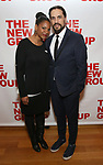 "Audra McDonald and Will Swenson attends the Off-Broadway Opening Night Premiere of  ""Jerry Springer-The Opera"" on February 22, 2018 at the Roundabout Rehearsal Studios in New York City."