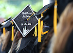 Graduates show off their decorated caps at the 45th annual Western Nevada College Commencement ceremony in Carson City, Nev., on Monday, May 23, 2016. A record 556 graduates received 598 degrees.<br />