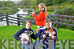 Musical siblings Gearo?id, Suzanne and Darragh Curtin from Brosna who were winners in several categories at this years national Fleadh held in Cavan.