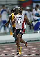 Tyson Gaye in his semi final heat of the 100m dash at the 11th. IAAF World Championships being held in Osaka,Japan. Photo by Errol Anderson,Anderson Photo/Corbis.