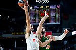 Real Madrid Sergio Llull and Kirolbet Baskonia Tornike Shengelia during Turkish Airlines Euroleague match between Real Madrid and Kirolbet Baskonia at Wizink Center in Madrid, Spain. October 19, 2018. (ALTERPHOTOS/Borja B.Hojas)
