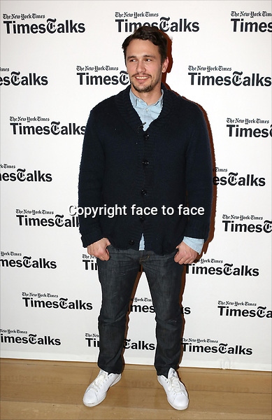 James Franco backstage at TimesTalks Presents 'An Evening With James Franco And Chris O'Dowd' at the Times Center on March 7, 2014 in New York City.<br /> Credit: McBride/face to face