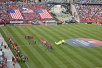 A record 64,000+ attended USA vs Spain match. In a friendly match, Spain defeated USA, 4-0, at Gillette Stadium on June 4, 2011.