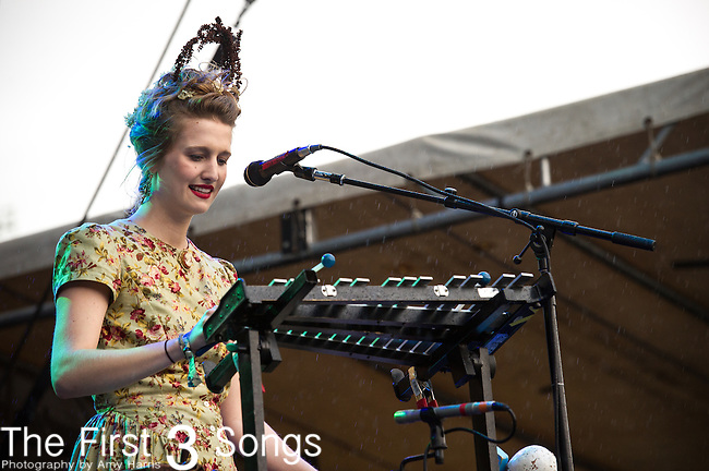 Annah Hardesty of The Last Bison performs during Day 3 of the 2013 Firefly Music Festival in Dover, Delaware.