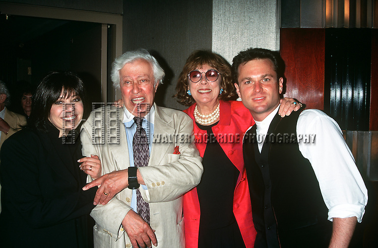 Laurie Beechman, Phyllis Newman and Adolph Green pictured at opening night at Rainbow and Stars in New York City on July 9, 1996.