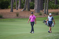 Brooks Koepka (USA) shares a laugh with the gallery after hitting his approach shot tight on 1 during round 4 of The Players Championship, TPC Sawgrass, at Ponte Vedra, Florida, USA. 5/13/2018.<br /> Picture: Golffile | Ken Murray<br /> <br /> <br /> All photo usage must carry mandatory copyright credit (&copy; Golffile | Ken Murray)