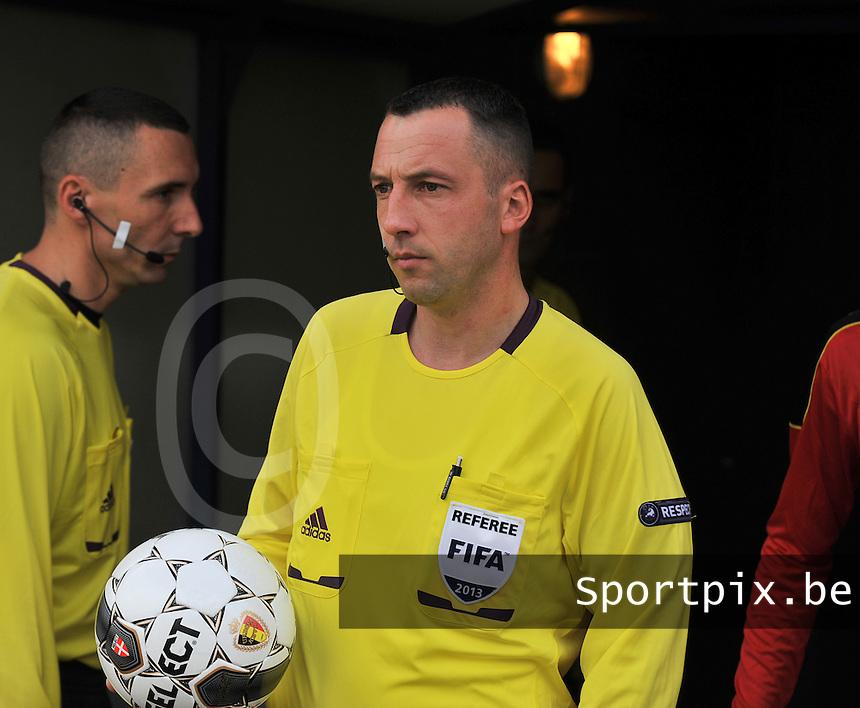 Scotland U19 - Belgium U19 : referee Emir Aleckovic.foto DAVID CATRY / Nikonpro.be