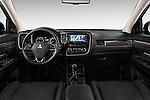 Stock photo of straight dashboard view of 2016 Mitsubishi Outlander Intense Premium 5 Door SUV Dashboard