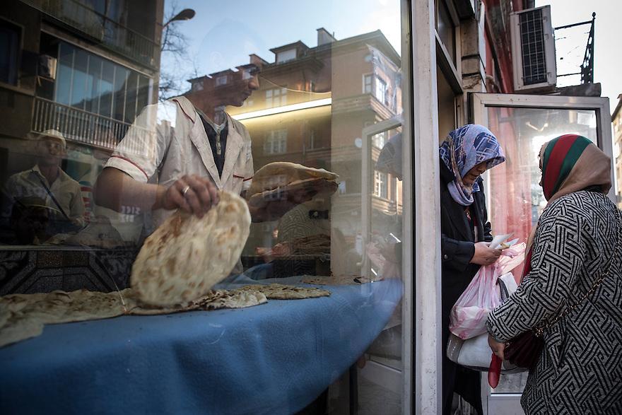 "SOFIA, BULGARIA- An Iraqi owned bread shop onTsar Simeon Street, also called ""Arab Street,"" an immigrant area in Sofia."