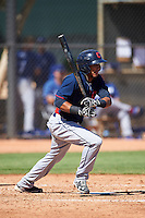 Cleveland Indians Elvis Perez (23) during an Instructional League game against the Los Angeles Dodgers on October 10, 2016 at the Camelback Ranch Complex in Glendale, Arizona.  (Mike Janes/Four Seam Images)